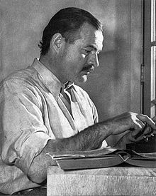 Ernest Hemingway at Sun Valley, Idaho, 1939.