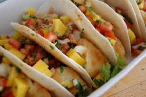 Fish tacos with mango salsa. We love to try something new.  Photo  by: jpellgen