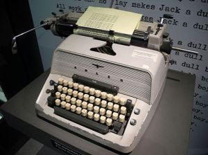 "Jack Torrance's typewriter in the movie ""The Shining"" based on King's novel. Photo by: China Crisis."